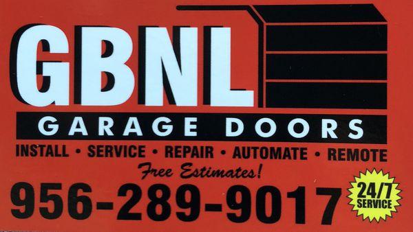 GBNL GARAGE DOORS
