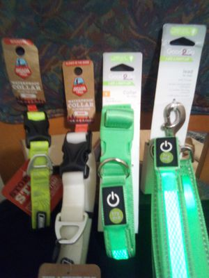LED and glow in the dark dog collars and lead for Sale in Fresno, CA