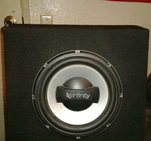 INFINITY 10inch SUBWOOFER for Sale in Moreno Valley, CA