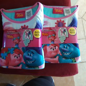 Girls Size 10/12 Trolls PJ's Flannels for Sale in West Covina, CA