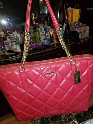 Authentic red coach bag for Sale in Houston, TX