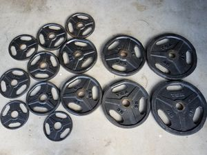 265 lb of Olympic Weight Plates (2 in) for Sale in Alpharetta, GA