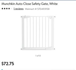 TWO White Munchkin Auto close baby gate for Sale in Puyallup, WA