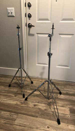 5 piece drum shells with 2 cymbal stands for Sale in Houston, TX