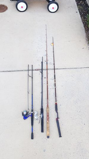 4 Fishing rods and 2 reels for Sale in Leesburg, VA