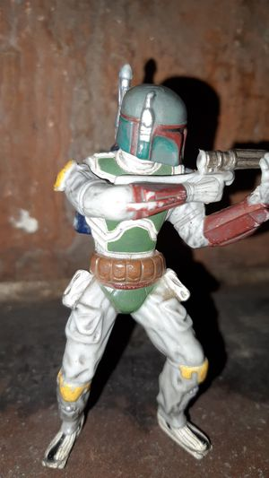 Star Wars Boba Fett PVC Collectible Figurine (2007) Toy Figure Distressed LFT for Sale in Twin Bridges, CA