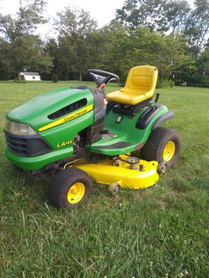 John Deere tractor Model 145 recently service 48 in caught runs excellent for Sale in Royersford, PA