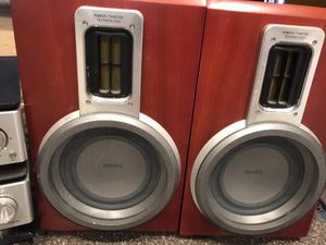 Philips CD Player and radio with Wood Speakers for Sale in Gilbert, AZ