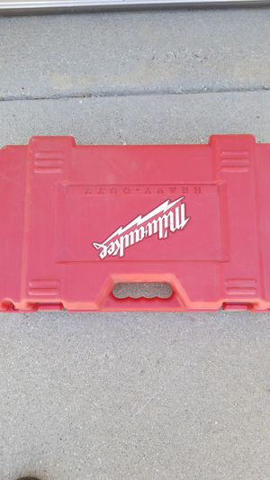 Milwaukee drill box with charger and batt for Sale in Chino, CA