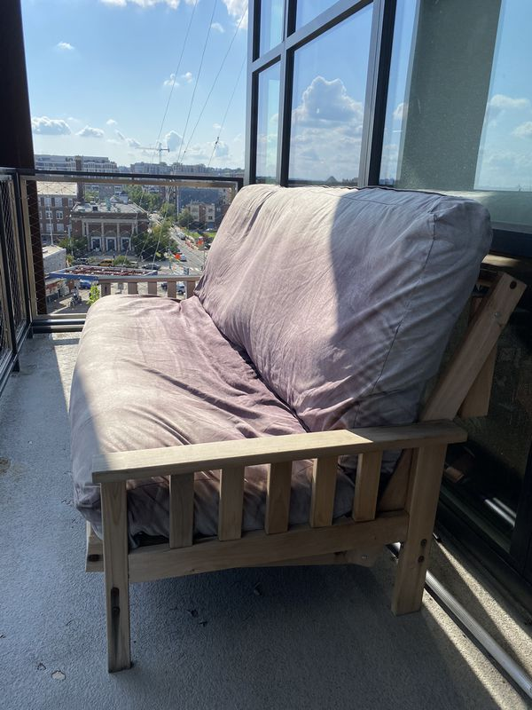 FREE FUTON MATTRESS AND FRAME (pickup only please)