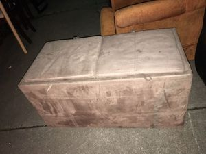 Storage Microsuede Ottoman for Sale in Detroit, MI
