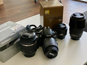 Nikon D3100 with kit lens and extra prime and zoom lenses for Sale in San Jose,  CA