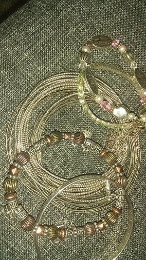 2 silver ringed bracelet bundles need cleaning for Sale in Lincoln, NE