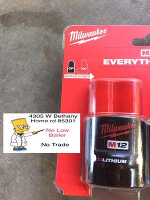Milwaukee battery 12M New 1.5 (No Menos) for Sale in Glendale, AZ
