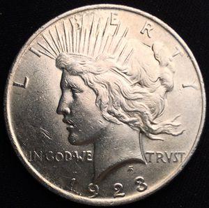 HIGH GRADE 1923 P Peace Silver Dollar - Very Nice! for Sale in Batavia, IL