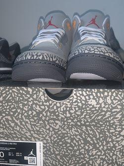 Jordan 3 Cool Grey Size 10 Deadstock for Sale in Gainesville,  FL