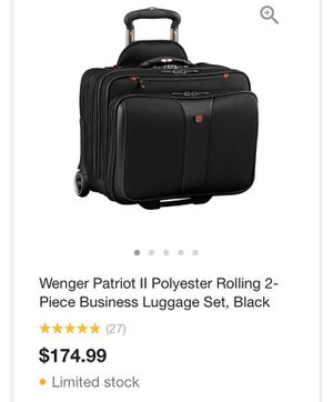 Wenger patriot II polyester rolling carry on for Sale in Englewood, FL