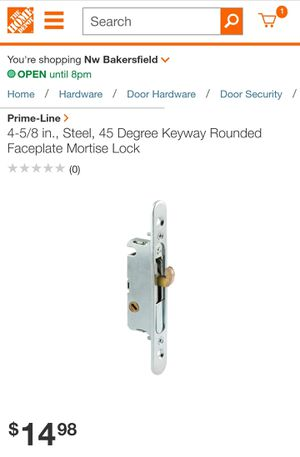 Prime-Line 4-5/8 in., Steel, 45 Degree Keyway Rounded Faceplate Mortise Lock for Sale in Bakersfield, CA