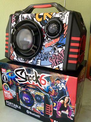Speaker Bluetooth,radio,USB,AUX,1🎤micrófono incluido,karaoke,recargable para la playa 😎 for Sale in Hialeah, FL