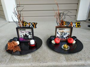 Halloween decorative trays for Sale in Plainfield, IL