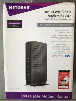 Netgear N600 WiFi Cable Modem Router for Sale in Parrish, FL
