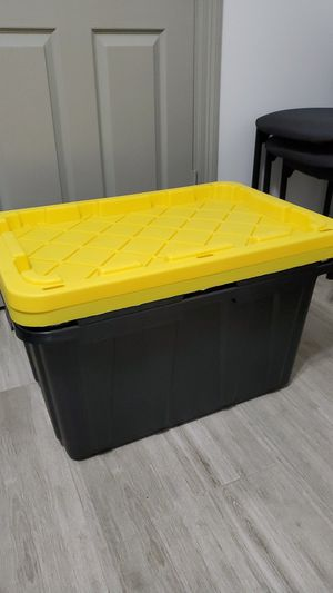 2 Tough Storage Organization Bin in Black Waste 27 Gal. Containers for Sale in Houston, TX