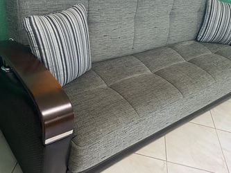 Gray Futon Sofa for Sale in Hialeah,  FL