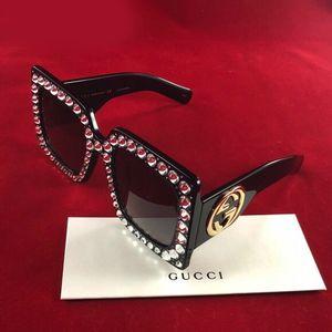 Brand NEW in Gucci Box GUCCI Sunglasses Oversized Square With Rhinestones for Sale in San Diego, CA
