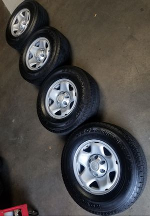 "16"" STOCK TACOMA PRERUNER RIMS AND TIRES YOKOHAMA for Sale in Upland, CA"