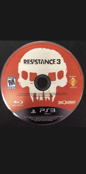 Resistance 3 PS3 Game for Sale in Los Angeles, CA
