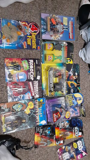 Vintage antique collectibles brand new in box MANY GREAT GEMS STAR WARS, BATMAN AND ROBIN, FANTASTIC 4 1990s for Sale in Tracy, CA
