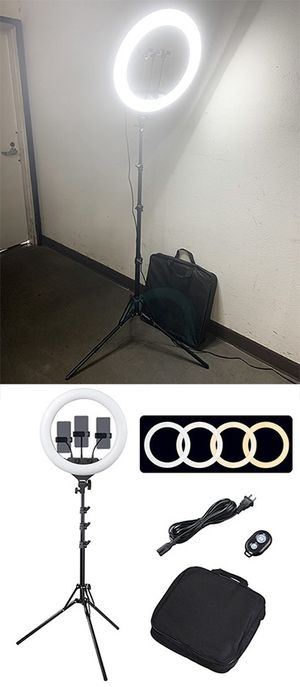 """(NEW) $90 each LED 17"""" Ring Light Photo Stand Lighting 50W 5500K Dimmable Studio Video Camera for Sale in El Monte, CA"""