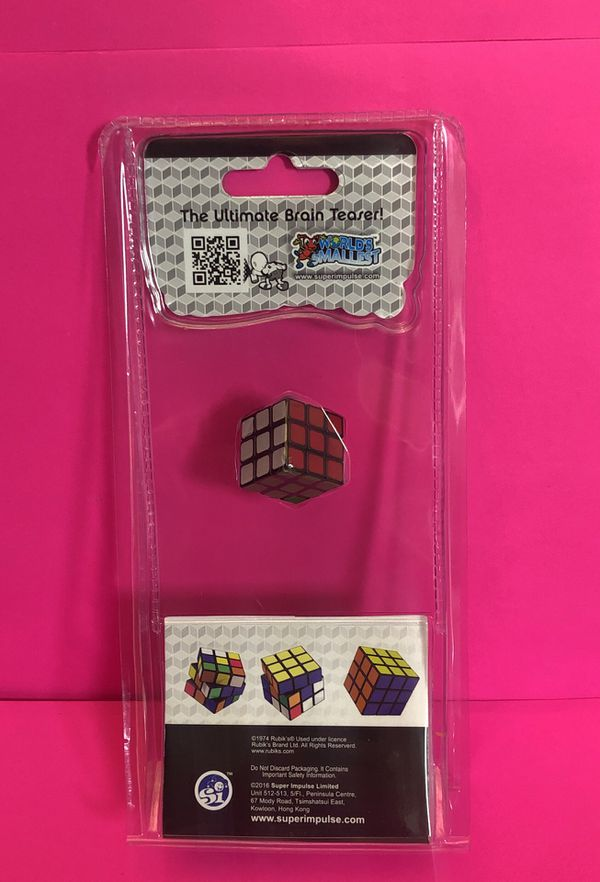 World's Smallest Rubik's Cube Yes! Actually Works Original Rubiks Product