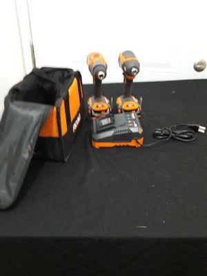 Ridgid brushless 18v drill/driver combo kit for Sale in Costa Mesa, CA