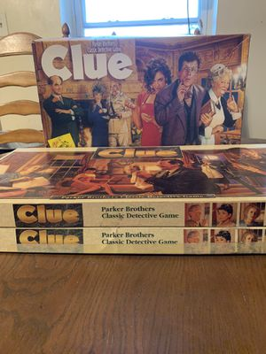 3 Classic Clue Board Games for Sale in Chicago, IL