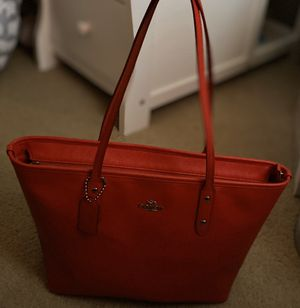 Red Coach tote bag. for Sale in Alexandria, VA