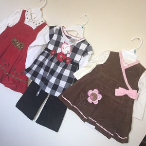 2 Velvet kids clothes Size 2t read one 6-9 months brown one black and white 3t brand new for Sale in Catonsville, MD