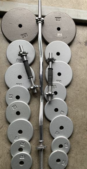 Weight plates and bars for Sale in Kent, WA