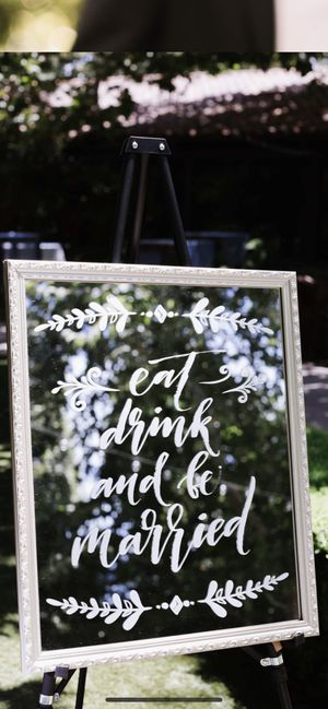 Wedding sign - eat, drink, and be married for Sale in Los Angeles, CA
