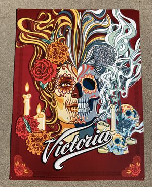 New Rare Victoria Day of the Dead Metal Beer Bar tin Sign for Sale in Chino Hills, CA