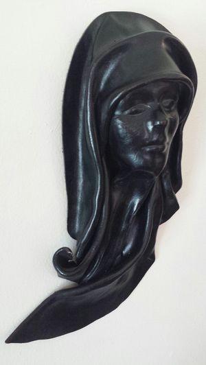 Vintage Folk Art Mask - Sculpted Leather for Sale in Lynnwood, WA