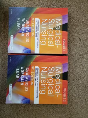 Medical Surgical Nursing 9th Edition, 2 Volume Set Textbook for Sale in Wayne, MI
