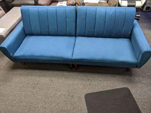 BLUE FUTON SOFA BRAND NEW COMES ASSEMBLED for Sale in Etiwanda, CA