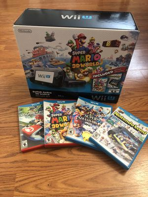 NINTENDO Wii U New open box super Mario 3D World plus Mario kart Smash Brothers and more for Sale in Bakersfield, CA