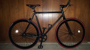 """Black/Red Authentic """"Pure Fix"""" Cycles Fixie Single-Speed Bike L Size 60 In Excellent Condition 10/10. for Sale in Los Angeles, CA"""