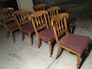 6 wooden Chairs for Sale in Las Vegas, NV