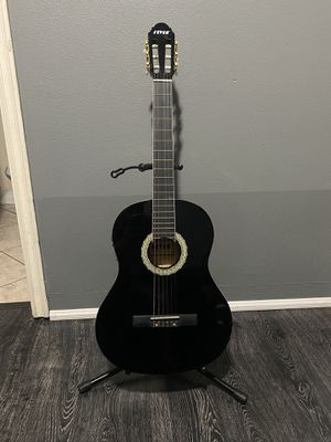 black fever classic electric acoustic guitar for Sale in South Gate, CA
