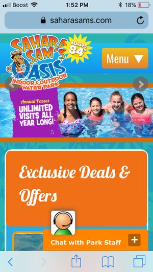 5 Sahara sams water park passes and all apex parks . Good til June 2019 with free parking for Sale in Piscataway Township, NJ