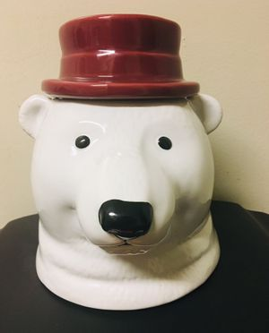 Glass Polar Bear Cookie Jar for Sale in Bowie, MD