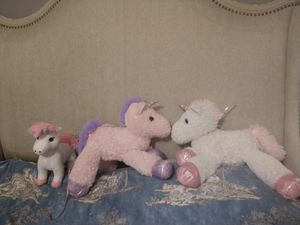 Plush Unicorn Toys 3 for Sale in Frederick, MD